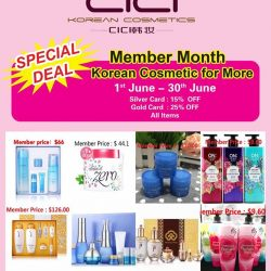 [Paya Lebar Square] CiCi Korean Cosmetics at B1-14 of Paya Lebar Square is having a special Member's Month promotion from now