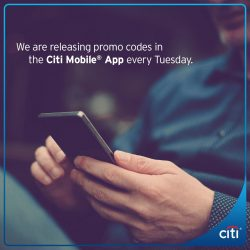 [Citibank ATM] Login to your Citi Mobile® App right now, we've released new promo codes!