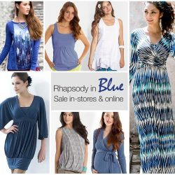 [Jooniper] Shop shades of blue amongst new SALE additions in our maternity and nursing wear range!