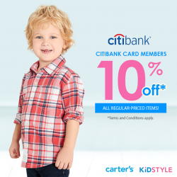 [KidStyleSg] Purchase with Citibank card and receive 10% off regular-priced items!