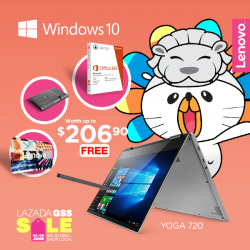 [Lenovo] For the bold, dynamic and the creative, the Lenovo Yoga 720 is now available at Lazada GSS!