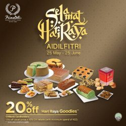 [PrimaDeli] Don't forget, we are having a 20% off* promotion on our Hari Raya goodies.