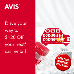 [AVIS] AVIS REWARD | Collect 10 Stamps from 10 Rental Days and Enjoy $120 OFF your next rental (min.
