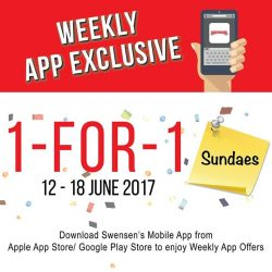 [Swensen's] This week, 1 for 1 Sundaes have returned!