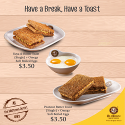 [OLDTOWN White Coffee Singapore] When it comes to breakfast, egg and toast have universal appeal.