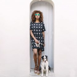 [MATTER PRINTS] Walk into the weekend with our version of the little black dress - carefree and easy.
