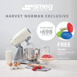 [Harvey Norman] Save $100 and get a free Tovolo Cooking Stamp, set of 3, worth $33 when you purchase a SMEG Stand