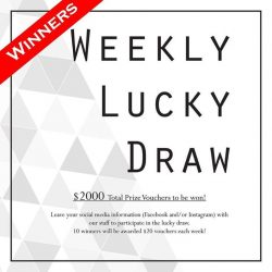 [Design & Comfort] This week's winners of our FINAL lucky draw are: From Instagram: @su111nn @yap.