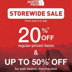 [The North Face] For a short time period only, all shoppers get to enjoy more discounts at our stores!