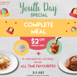 [Eighteen Chefs] Do you know that students are not just entitled to student meals, but also $2 off our All Time Favourites(
