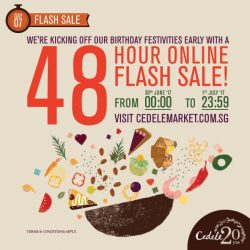 [Cedele] SAVE THE DATE 30 JUNE & 1 JULY FOR OUR 48 HOURS FLASH SALE (30/6-1/7) *** We're kicking