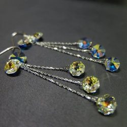 [Excluniqueeee] Shine bright like a diamond with these sparkly crystal earrings!
