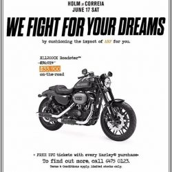 [Harley-Davidson] Fight on.