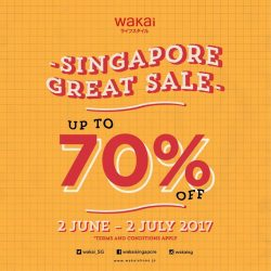 [Wakai] Drop by our store at Cathay Cineleisure 02-02 and enjoy up to 70% for our mid-year Great Singapore