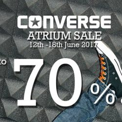 Causeway Point: Enjoy Up to 70% OFF at Converse Atrium Sale