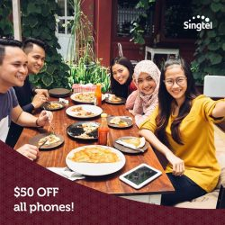 [Singtel] Get $50 OFF all phones with promo code RAYA50 on a new Combo 2 Mobile Plan and above!