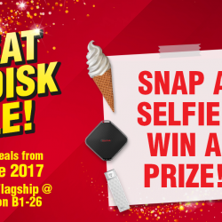 [CHALLENGER MINI] Come on down to Challenger Flagship @ Bugis Junction B1-26 for the Great SanDisk Sale from 24 - 26 June!