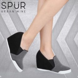 [SPUR] Strut out into the streets with these wedge sneakers.