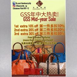 [Luxury City] GSS Mid-year Sale : Brand New Bags - S$0For more details or more brand new and pre-loved collection