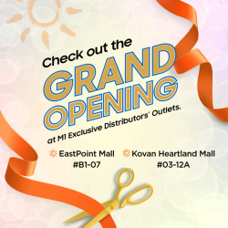 [M1] Check out the Grand Opening at M1 Exclusive Distributors' Outlets.