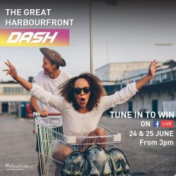 [HarbourFront Centre] Catch THE GREAT HARBOURFRONT DASH happening @ HarbourFront Centre today on FB Live.