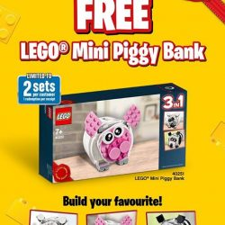 [The Brick Shop] FREE LEGO® Mini Piggy Bank when you spend $100 and above on any LEGO® product(s) from 1 July 2017