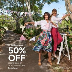 [Marks & Spencer] The road to a 50% smashing sale starts today!