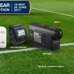 [Sony Singapore] Capture momentous moments with crisp-clear, shake-free quality on the SonyActionCam.