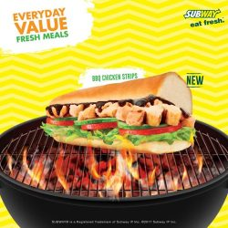 [Subway Singapore] That waft of BBQ sauce is too difficult to resist… One BBQ Chicken Strips, please!