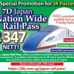 [JTB] Special Promotion for 7D Japan Nationwide JR Pass!
