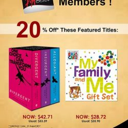 [MPH Bookstores] Exclusively For PAssion Card Members20% off featured titlesPromotion valid from 1 June - 31 August 2017 * Whilst Stocks Last