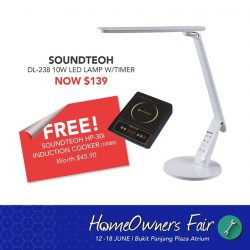 [Home-Fix Singapore] HomeOwners Fair - Last 2 Days Special Soundteoh DL-238 10W lamp now at $139 (Usual Price $169) Comes with FREE