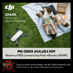 [Cathay Photo] PRE-ORDER* the DJI Spark (white) and receive a FREE Lowepro Day Pack!