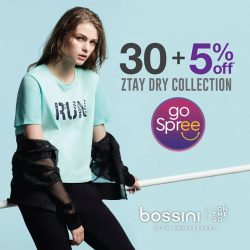 [Bossini Singapore] Enjoy additional 5% off the Ztay Dry collection this GSS.