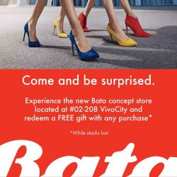 [Bata Shoe Singapore] Come and be surprised at our new Bata concept store located at VivoCity!