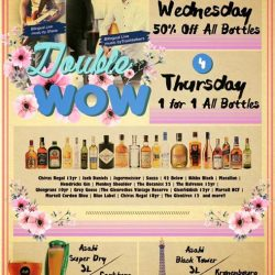[OSG Bar+] 50% OFF ALL BOTTLES EVERY WED & 1 FOR 1 FOR ALL BOTTLES EVERY THURS at OSG - Our Simple Goodness Suntec