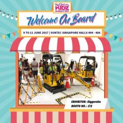 [DIGGERSITE] In collaboration with THE KIDZ ACADEMY, DIGGERSITE is having an exhibition Suntec Halls 404-406.