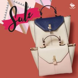 [Jelly Bunny] JELLY BUNNY END OF SEASON SALE• BAGS : LOCK-TOP HANDLE / NAVY , PINK / 73.