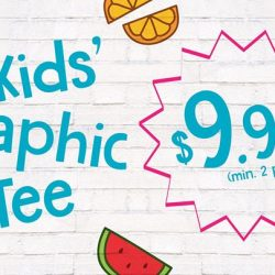 [Bossini Singapore] For a limited period, get the Kids' Graphic Tees at $9.