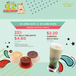 [Mr Bean Singapore] Celebrate 22 years of goodness in 22 days!