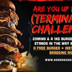 Take the Terminator Burger Challenge at Roadhouse If You Dare & Win a FREE Burger!