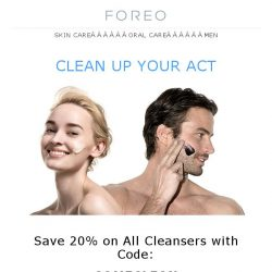 [Foreo] When Your Skin Really Needs Nourishment…Save 20% on all FOREO Cleansers