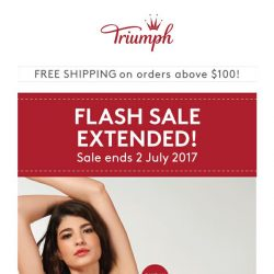[Triumph] EXTENDED! ⚡️Flash sale extended due to popular demand!