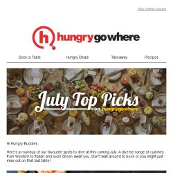[HungryGoWhere] July's Top Picks on HungryGoWhere