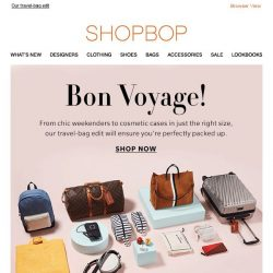 [Shopbop] Vacation packing, solved