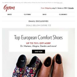 [6pm] You need some European comfort shoes in your life!