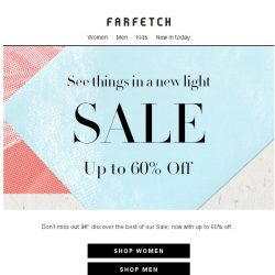 [Farfetch] Does Sale get any better? | Up to 60% off
