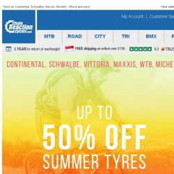 [Chain Reaction Cycles] Summer Essentials: 50% off Tyres