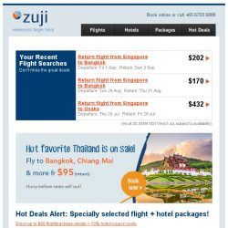 [Zuji] It's Thailand on sale this week! 3D2N fr $153.