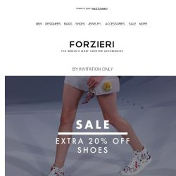 [Forzieri] Sale Alert // 70% Off Shoes Ends Tomorrow
